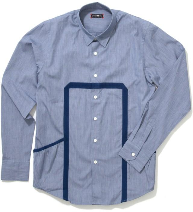 CASH CA Blue End on End Knit Tape Shirt