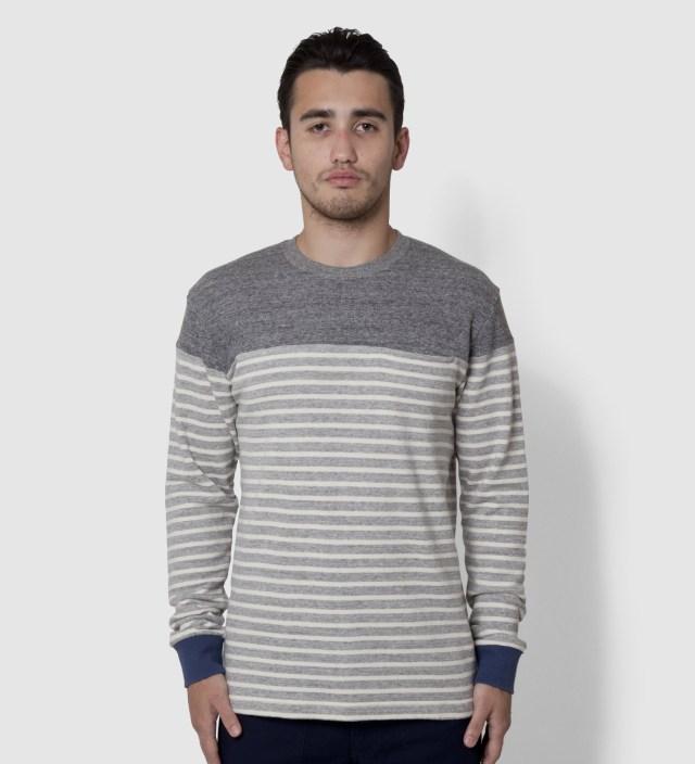 CASH CA Grey Panel Border Sweater