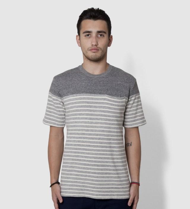 CASH CA Grey Panel Border T-Shirt