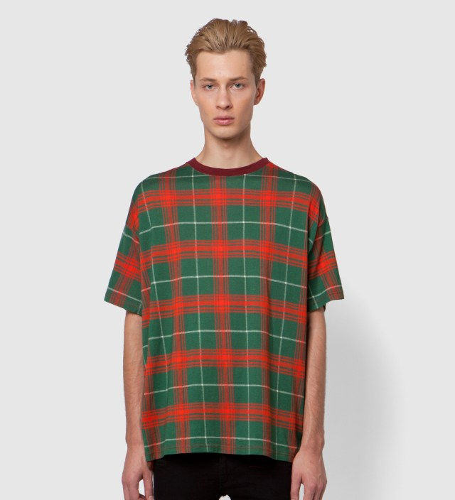 FACETASM Red Tartan Big T-Shirt