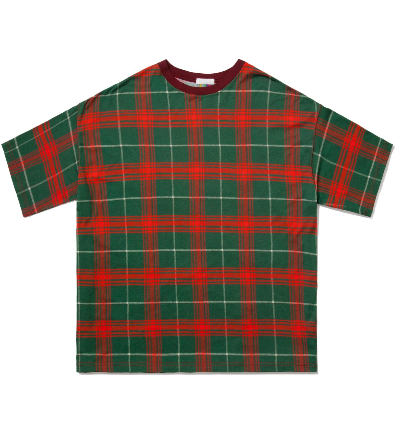 FACETASM Red Tartan Big T-Shirt