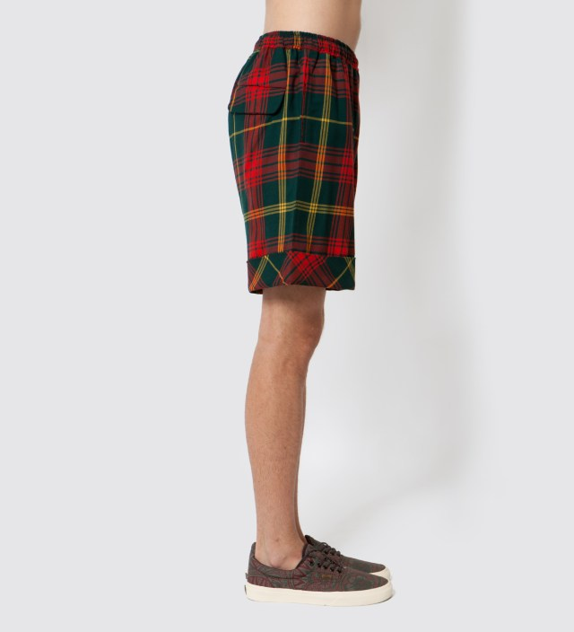 FACETASM Red Tartan Shorts