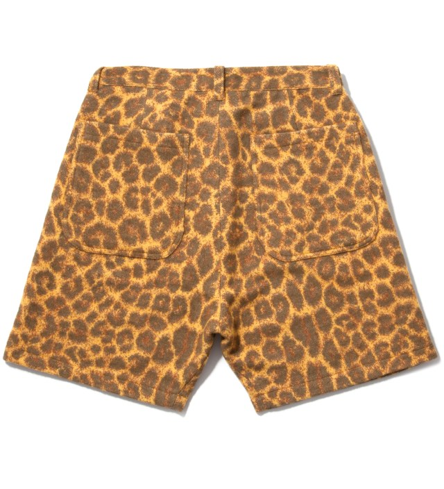 Facetasm Yellow Leopard Blanket Shorts