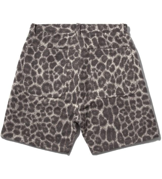 Facetasm Grey Leopard Blanket Shorts