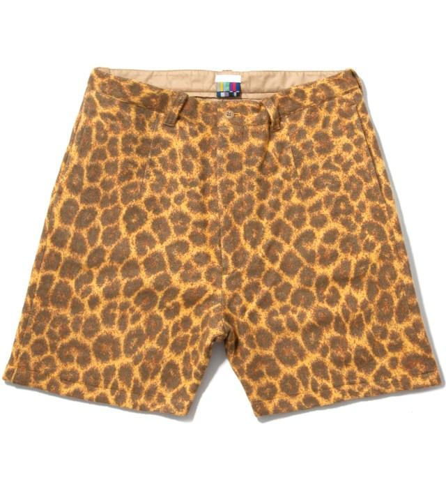 FACETASM Yellow Leopard Blanket Shorts