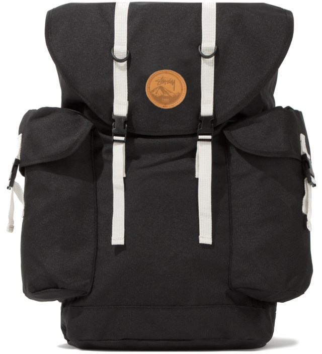 Stussy Black Double Strap Backpack