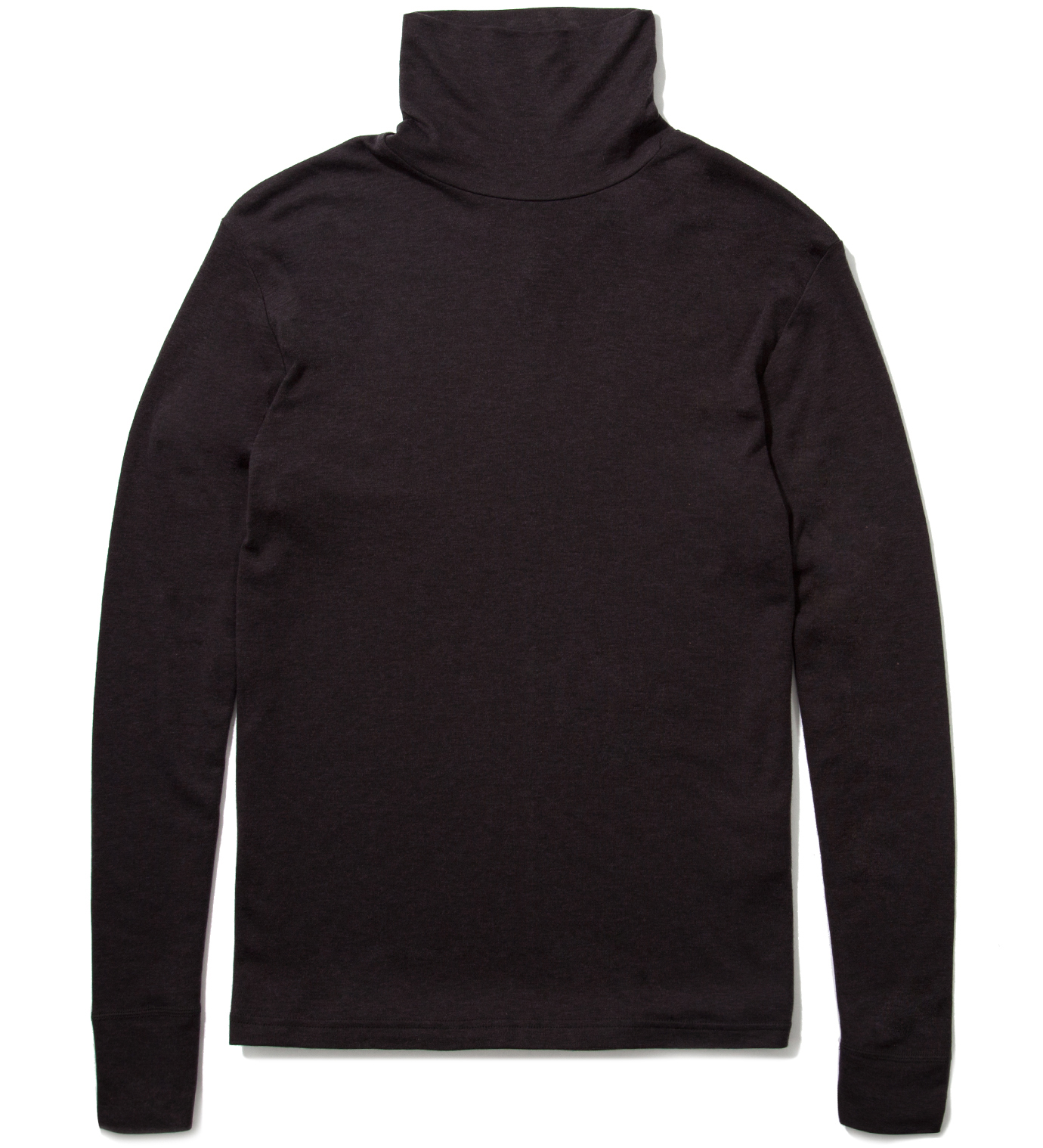A. Sauvage Brown Long Sleeved Roll Neck Base Layer