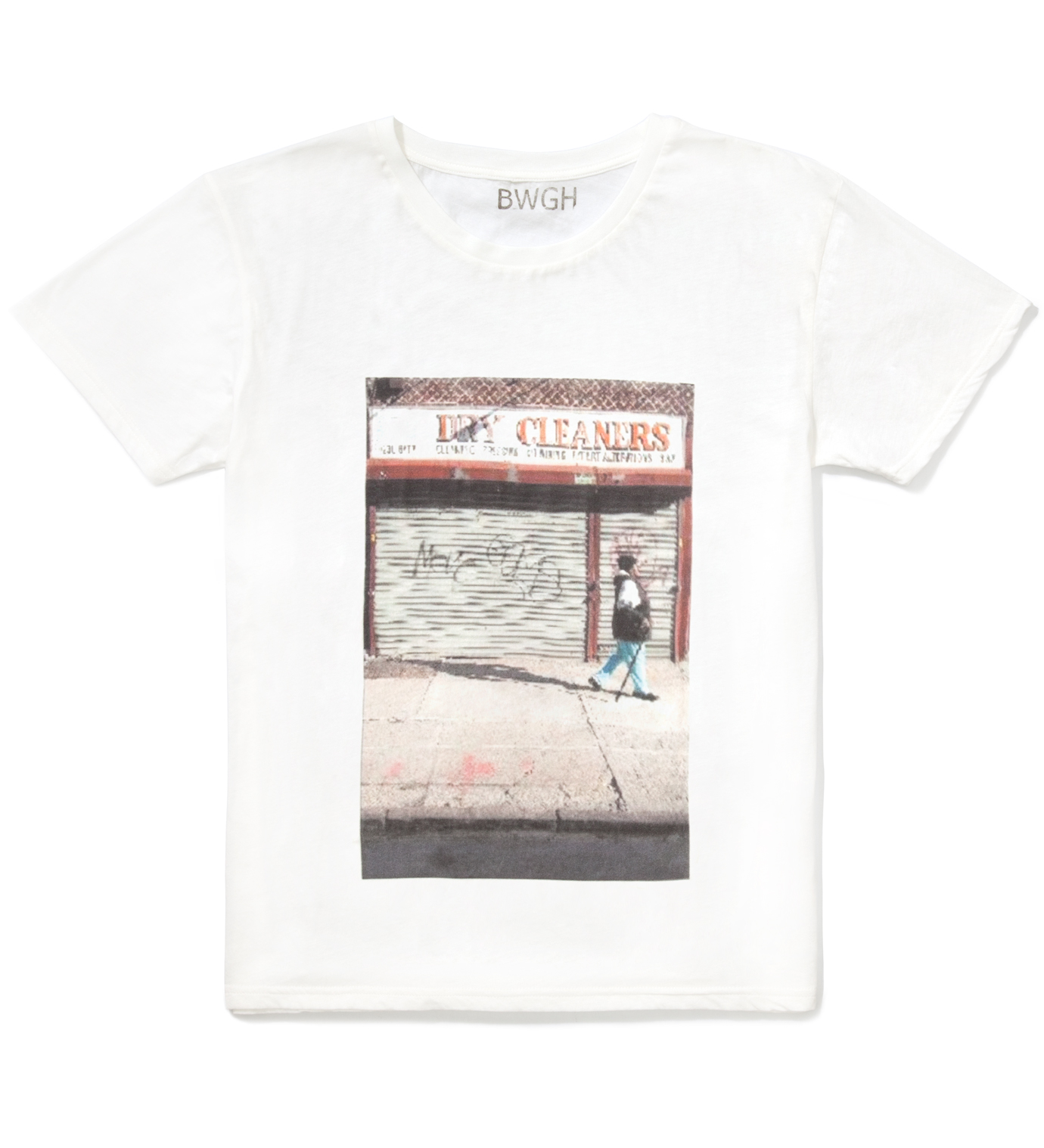 BWGH White Dry Cleaners T-Shirt