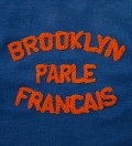 BWGH Blue & Orange Brooklyn Parle Francais Sweater