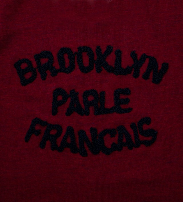 BWGH Burgundy & Navy Brooklyn Parle Francais Sweater
