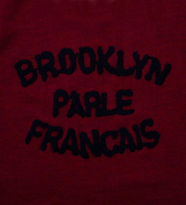 BWGH Burgundy & Navy Brooklyn Parle Francais Sweater