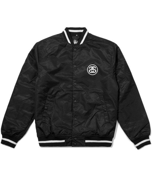 Stussy Black Varsity Coach Jacket