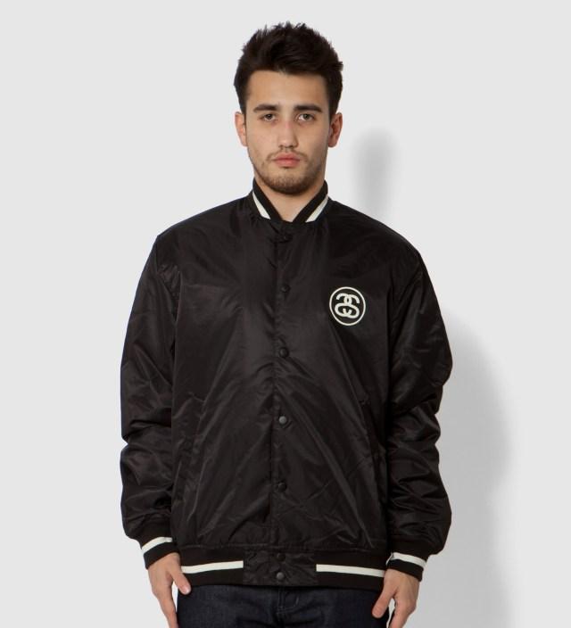 Stussy Black Varsity Coach Jacket