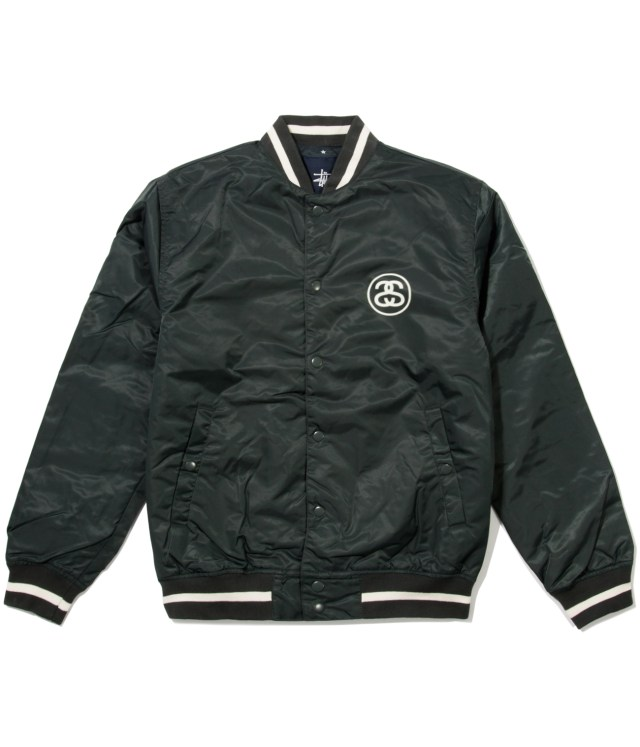 Stussy Green Varsity Coach Jacket