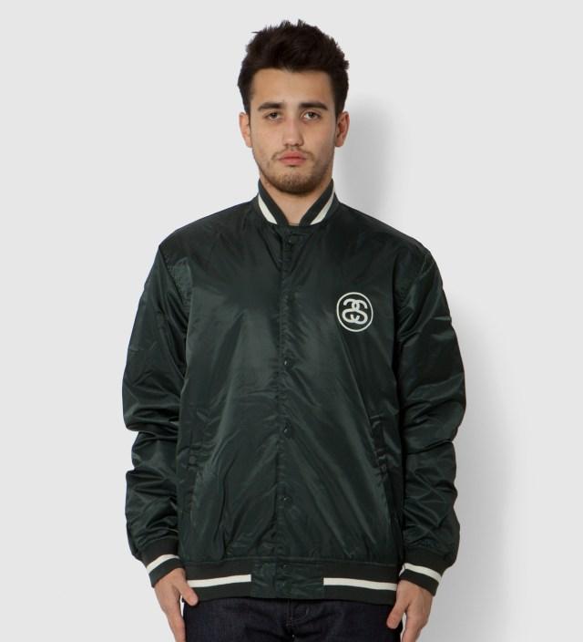 Stussy Green Varsity Coach Jacket