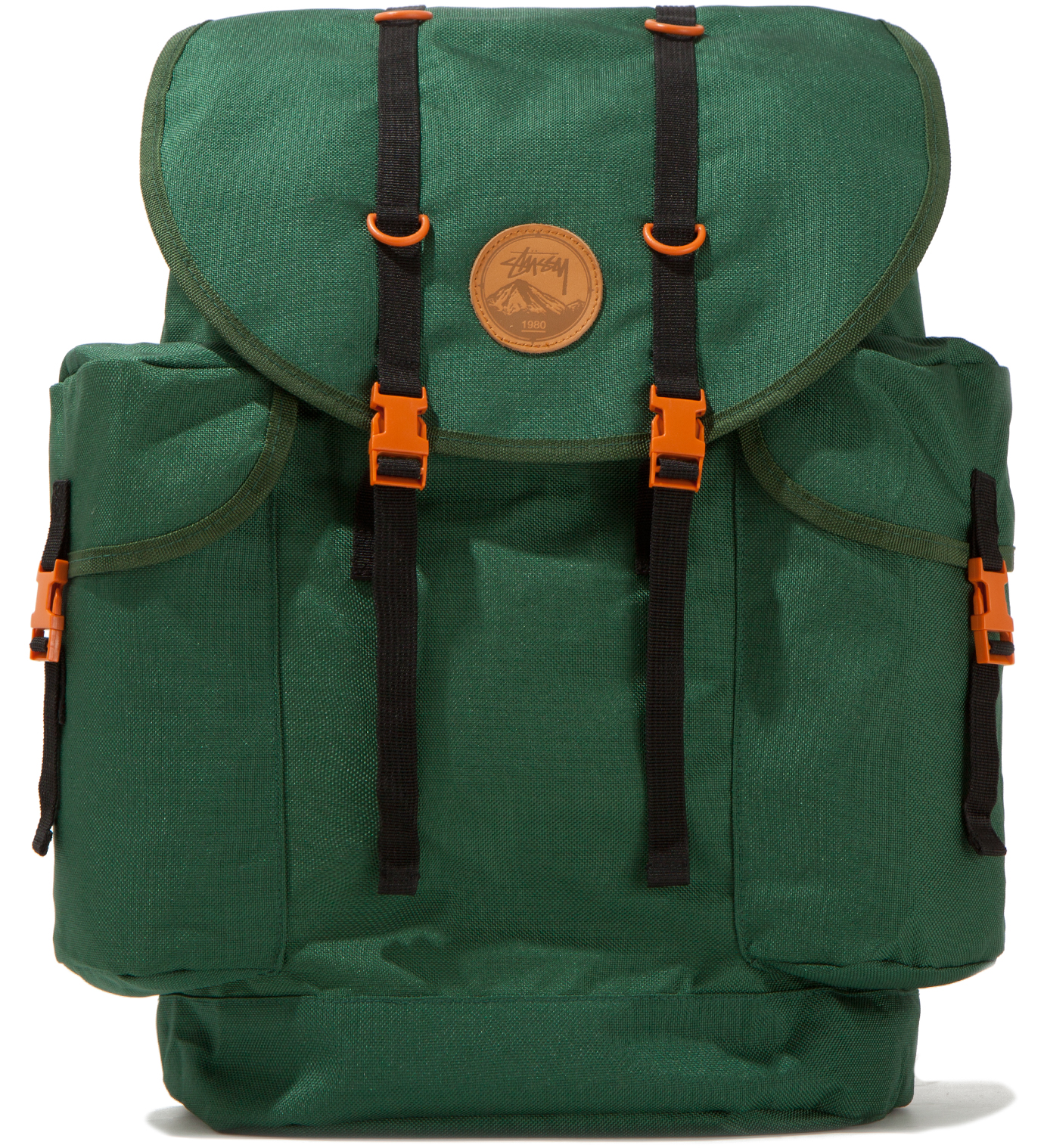 Stussy Green Double Strap Backpack