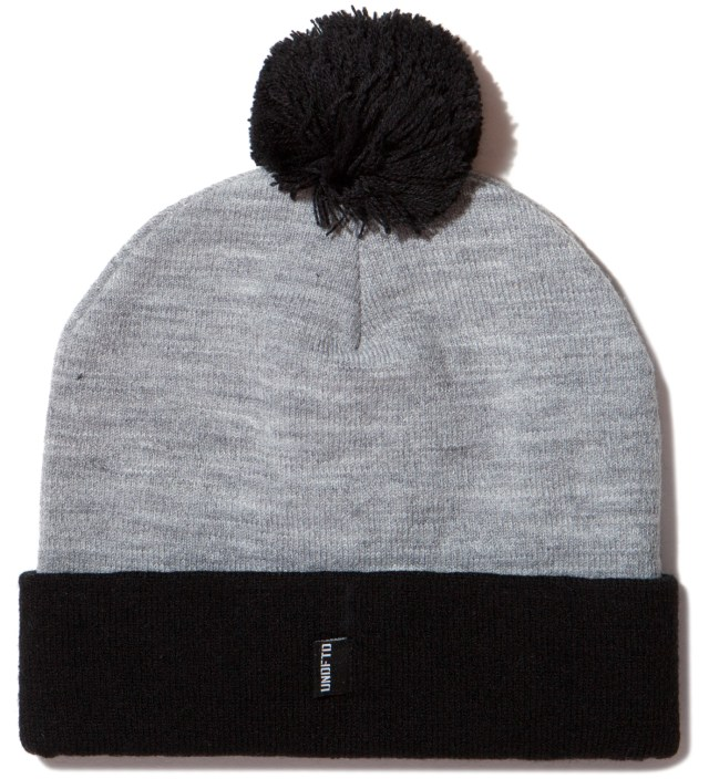 UNDEFEATED Heather Grey Felt U Pom-Pom Beanie