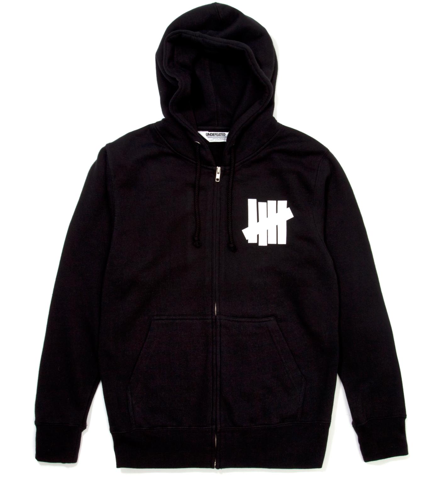 UNDEFEATED Black 5 Strike Zip Hoodie