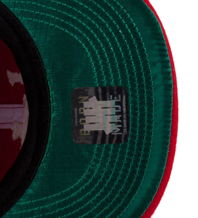 Undefeated Red UD Pipe Ebbets Ballcap