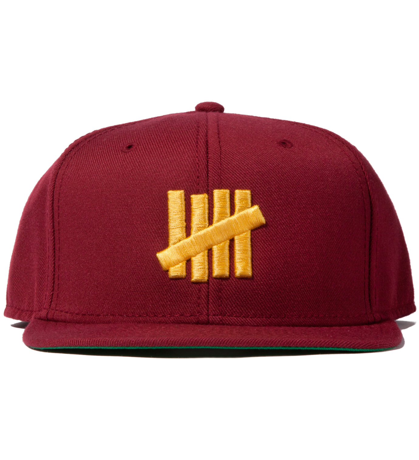 UNDEFEATED Burgundy 5 Strike Snapback Ballcap