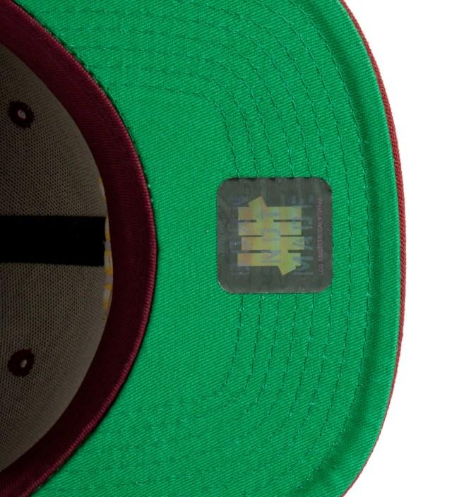 Undefeated Burgundy 5 Strike Snapback Ballcap