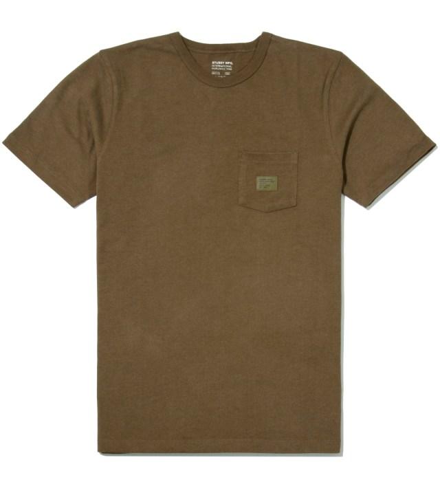Stussy Green Heather Basic Issue Crew T-Shirt