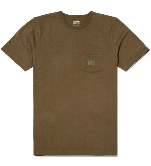 Stussy Green Heather Basic Issue Crew T-Shirt