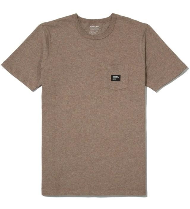 Stussy Brown Heather Basic Issue Crew T-Shirt