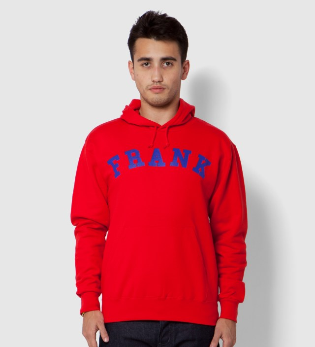Frank Red Frank Arch Logo Hoodie