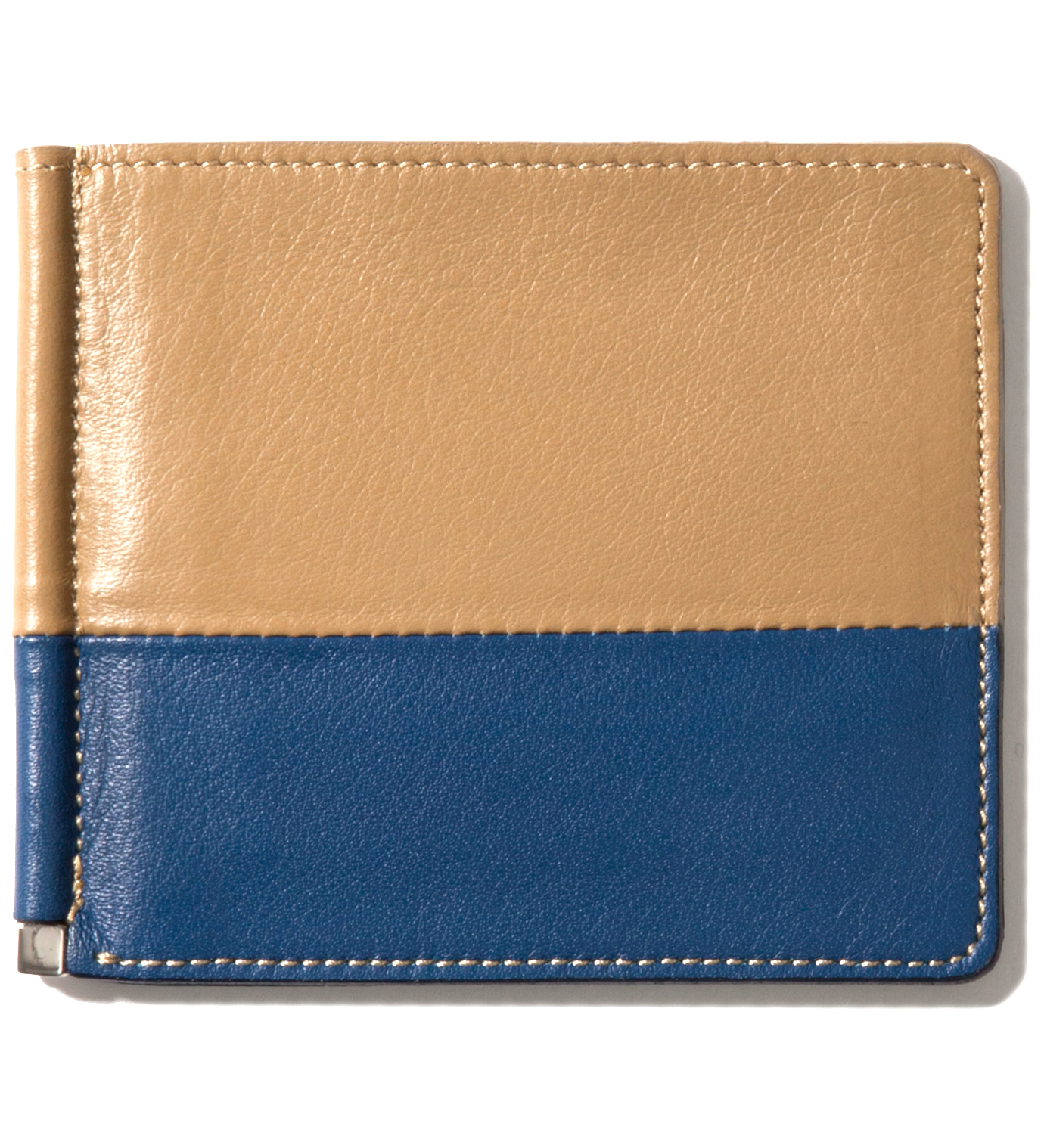 IMIND Beige/Navy Card Case & Money Clip