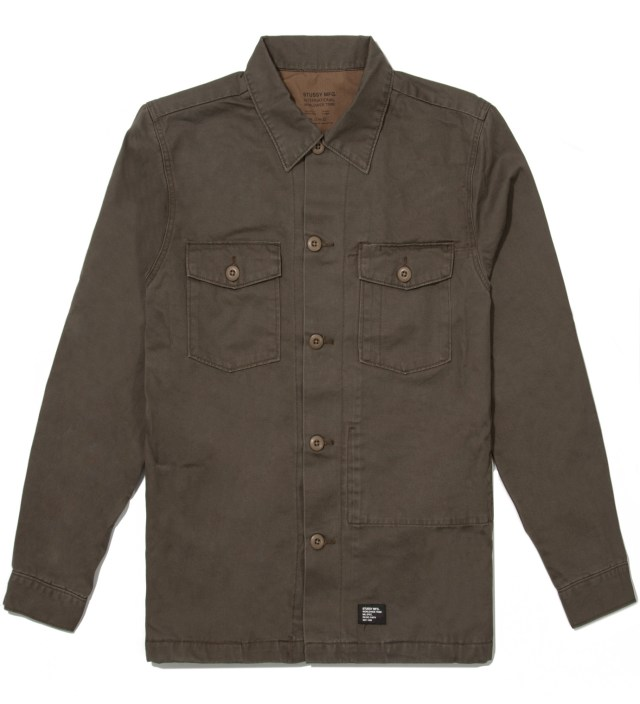 Stussy Olive Troops Shirt