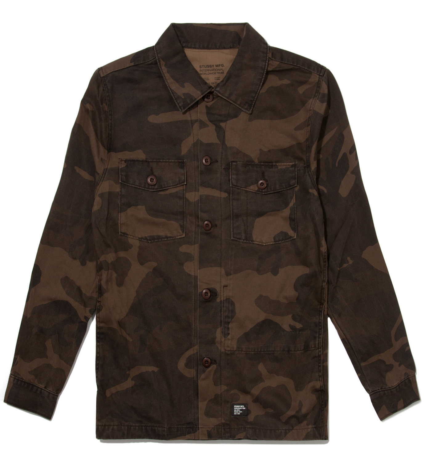Stussy Brown Camo Troops Shirt