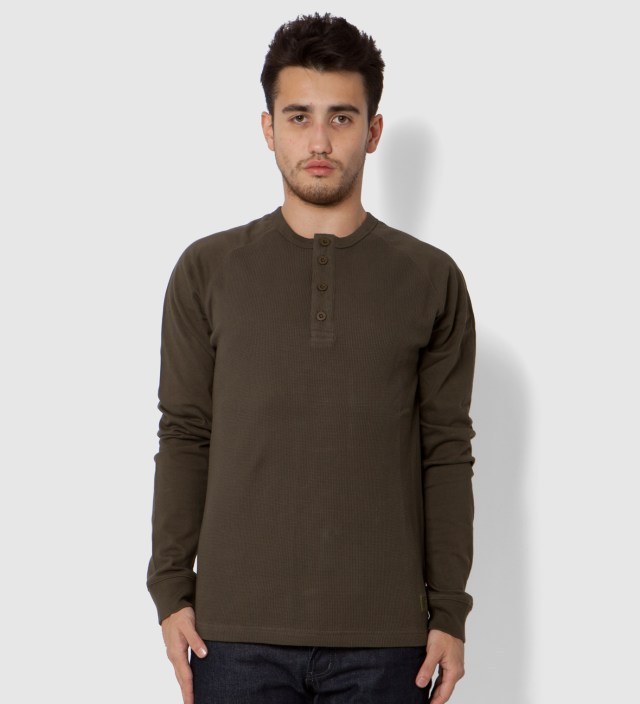 Stussy Olive Recruit Henley