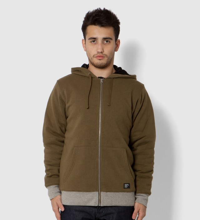 Stussy Green Heather Training Day Zip Up