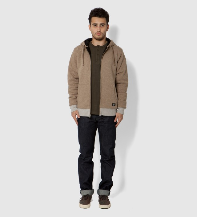 Stussy Brown Heather Training Day Zip Up
