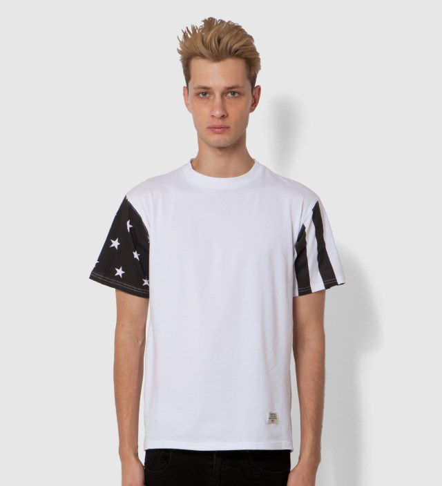 Mister White/Black Print Mr. USA Summer Blend T-Shirt