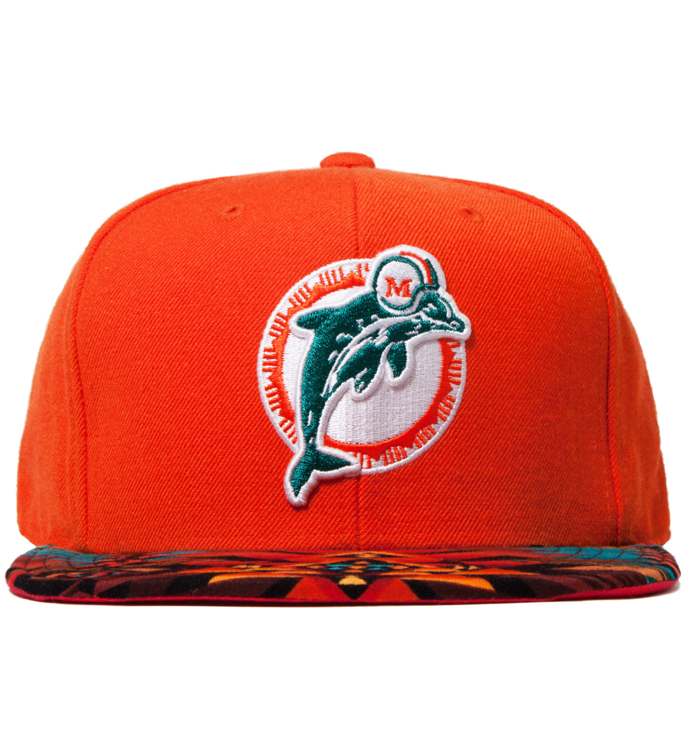 The Genesis Project Miami Dolphins Teal Navajo Strap-Back Cap