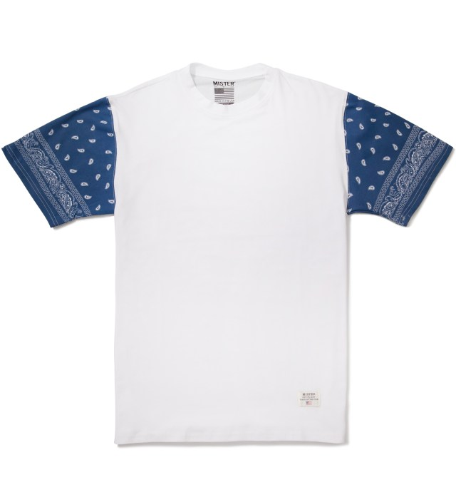 Mister White/Navy Print Mr. Bandana Immediate T-Shirt