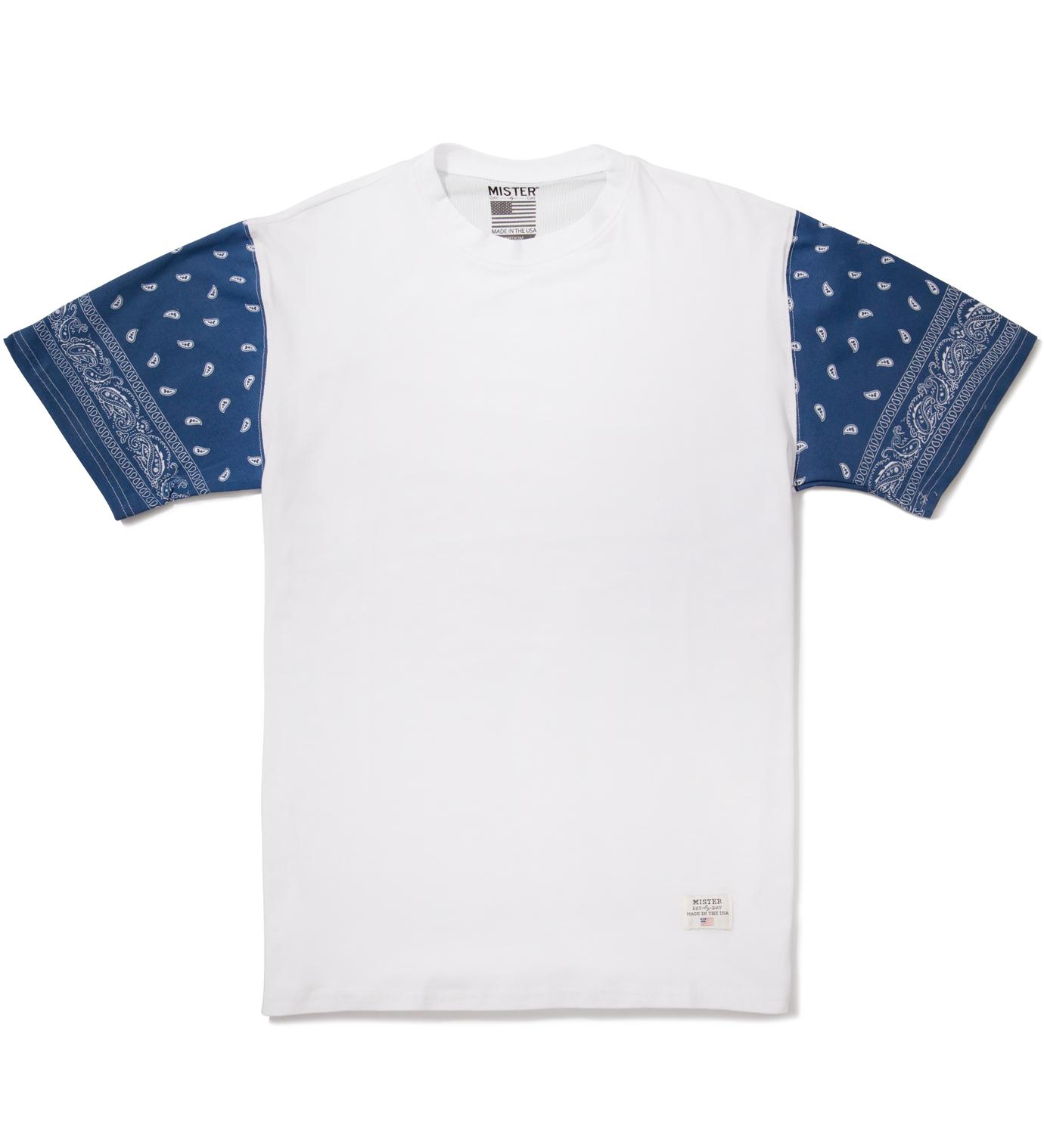Mister White/Navy Print Mr. Bandana Immediate T-Shirt