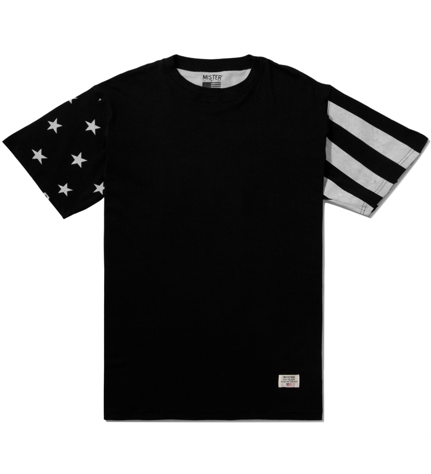 Mister Black/White Print Mr. USA Summer Blend T-Shirt