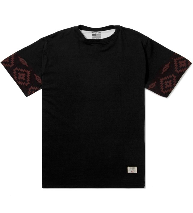 Mister Black/Maroon Print Mr. Native Immediate T-Shirt