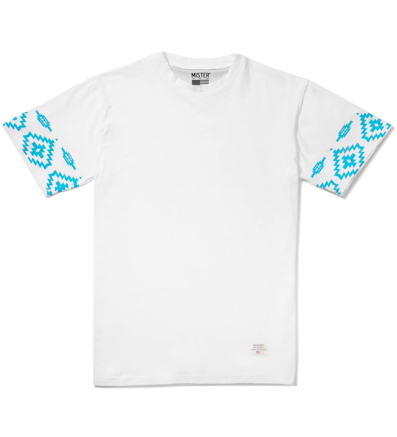 Mister White/Turquoise Print Mr. Native Immediate T-Shirt