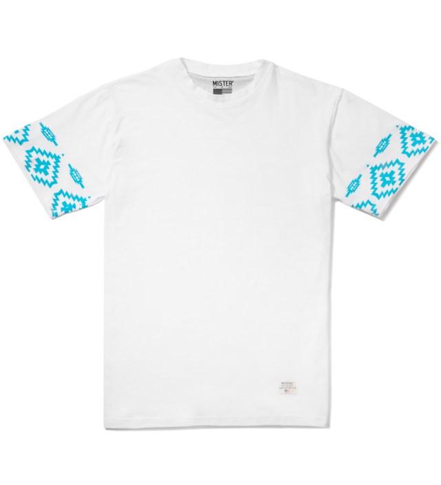 Mister White/Turquoise Print Mr. Native Immediate T-Shirt