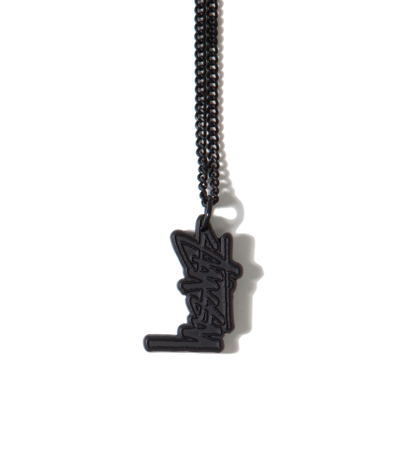 Stussy Black Stock Link Necklace