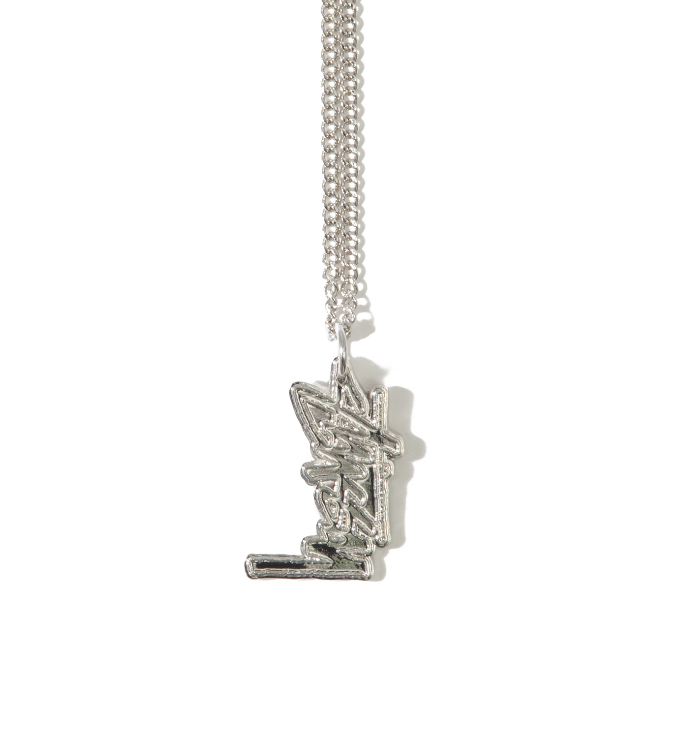 Stussy Silver Stock Link Necklace
