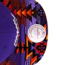 The Genesis Project Toronto Raptors Purple Navajo Strap-Back Cap