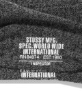Stussy Black Inspector Crew Socks