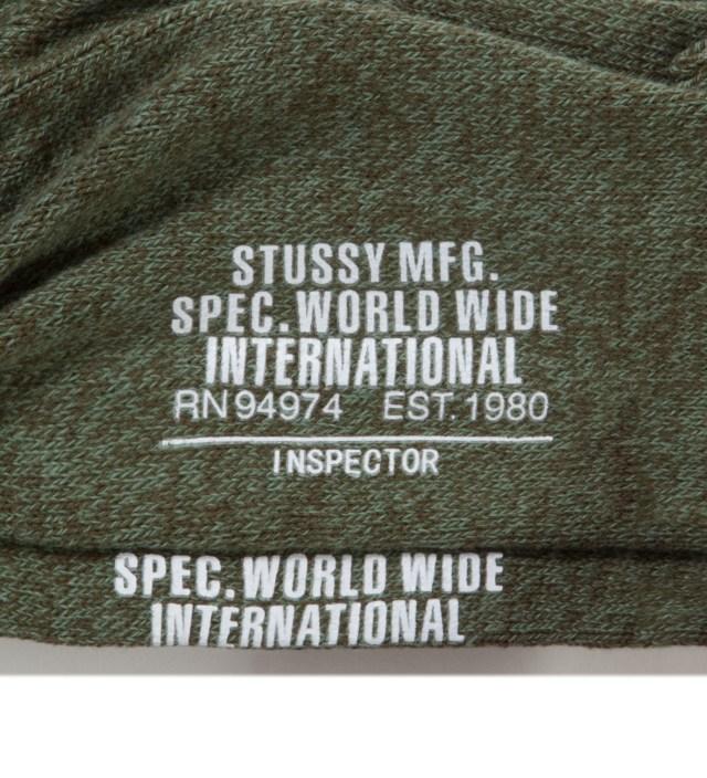 Stussy Olive Inspector Crew Socks
