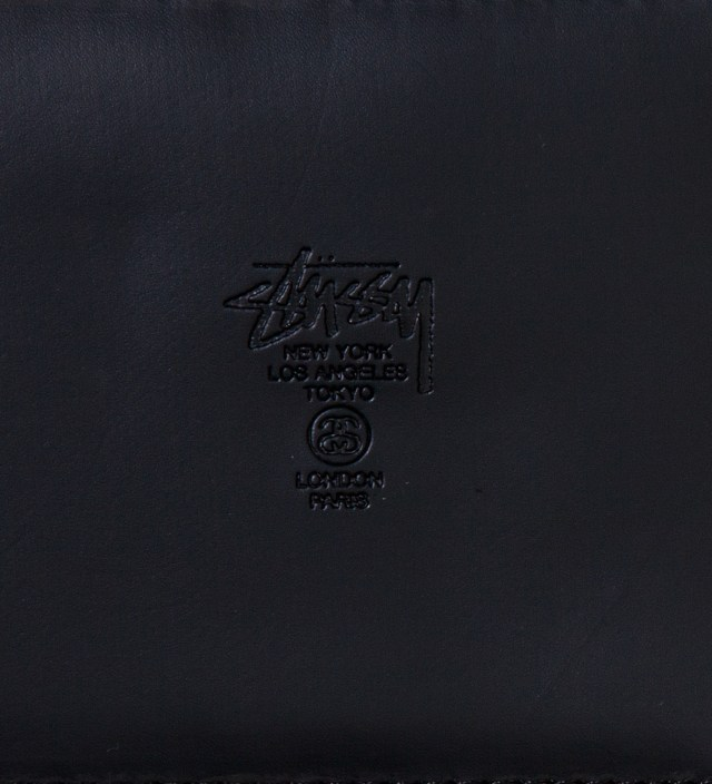 Stussy Black Super Solid Zip Wallet