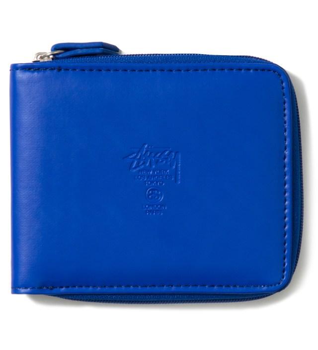 Stussy Blue Super Solid Zip Wallet